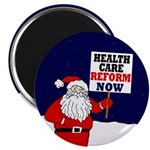 Santa for Health Care Reform Magnet