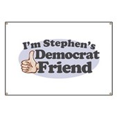 You might be going to hell, but that shouldn't stop you from being Stephen Colbert's friend. If you're a Democrat and a member of the Colbert Nation, you need this! I'm Stephen's Democrat Friend!