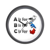 B is for Birdorable Wall Clock