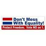 For Freedom, NO on 1 bumper sticker