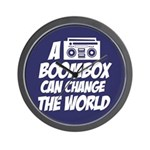 A Boombox Can Change the World Wall Clock