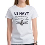Navy Brother-in-law defending Women's T-Shirt