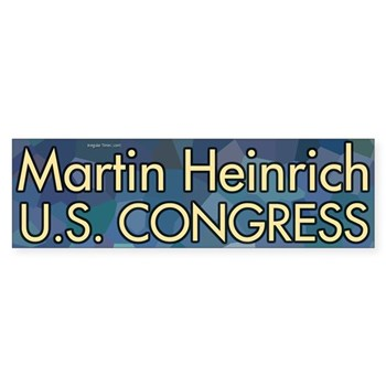 Elect Martin Heinrich to Congress (Blue Heinrich for New Mexico bumper sticker)