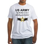 Army Brother-in-law Defending Fitted T-Shirt