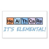 Healthcare: It's Elemental Rectangle Sticker