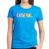 Colorful Retro Liberal Women's Dark T-Shirt