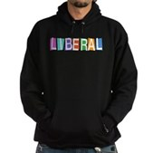 Colorful Retro Liberal Hoodie (dark)