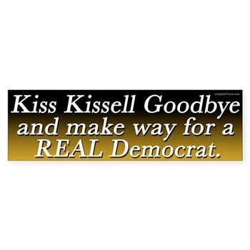 Kiss Kissell Goodbye Bumper Sticker for the North Carolina Congressional Races