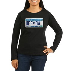 Uffda License Plate Shop Women's Long Sleeve Dark T-Shirt