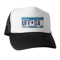 Uffda License Plate Shop Trucker Hat