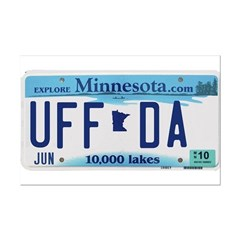 Uffda License Plate Shop Mini Poster Print