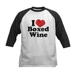 I Heart Boxed Wine Kids Baseball Jersey