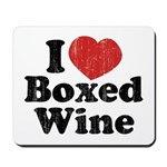 I Heart Boxed Wine Mousepad