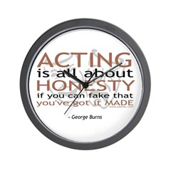 Acting is all about Honesty... Wall Clock