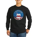 I Survived SNOMG 2010 Long Sleeve Dark T-Shirt