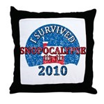 I Survived Snopocalypse Blizzard of 2010  Throw Pillow