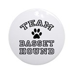 Team Basset Hound Ornament