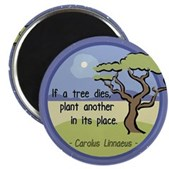 Linnaeus Quote Magnet