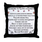 10 Reasons to love a Coastie Throw Pillow
