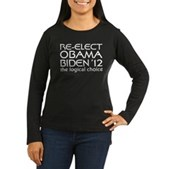 Logical Obama 2012 Women's Long Sleeve Dark T-Shir