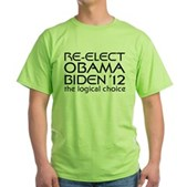 Logical Obama 2012 Green T-Shirt