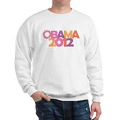 Obama Flowers 2012 Sweatshirt