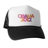 Obama Flowers 2012 Trucker Hat