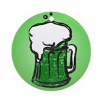 Round Green Beer Round Ornament (Round)
