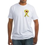 Yellow Ribbon Love Miss Airman Fitted T-Shirt