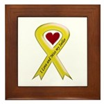 Yellow Ribbon Love Miss Sailor Framed Tile