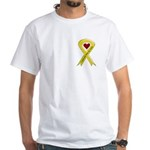 Yellow Ribbon Love Miss Sailor White T-Shirt