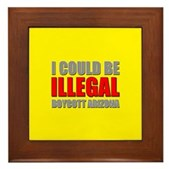 Could Be Illegal - Boycott AZ Framed Tile