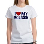 I heart love my Soldier Army Women's T-Shirt