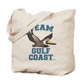 Team Gulf Coast Pelican Tote Bag
