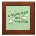 Cupcakes Are Da Bomb Framed Tile