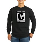 Content Rated C: Castle Fan Long Sleeve Dark T-Shirt