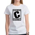 Content Rated C: Castle Fan Women's T-Shirt