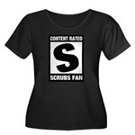 Content Rated S: Scrubs Fan Women's Plus Size Scoop Neck Dark T-Shirt