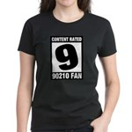 Content Rated 9: 90210 Fan Women's Dark T-Shirt
