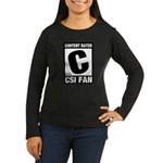 Content Rated C: CSI Fan Women's Long Sleeve Dark T-Shirt