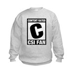 Content Rated C: CSI Fan Kids Sweatshirt