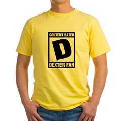 Content Rated D: Dexter Fan Yellow T-Shirt