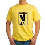 Content Rated V: V Fan Yellow T-Shirt