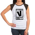 Content Rated V: V Fan Women's Cap Sleeve T-Shirt