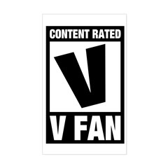 Content Rated V: V Fan Sticker (Rectangle)