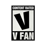 Content Rated V: V Fan Rectangle Magnet
