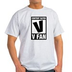 Content Rated V: V Fan Light T-Shirt