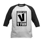 Content Rated V: V Fan Kids Baseball Jersey