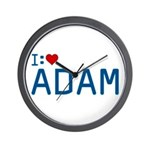 I Heart Adam Wall Clock