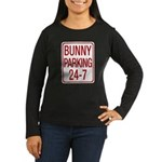 Bunny Parking Women's Long Sleeve Dark T-Shirt